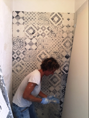 Tiling bathrooms