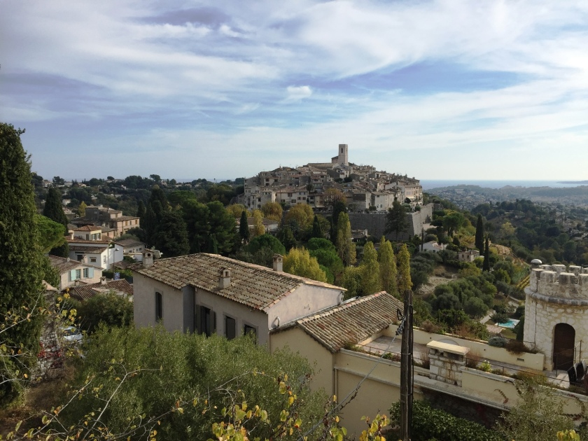View of the citadel of St Paul de Vence